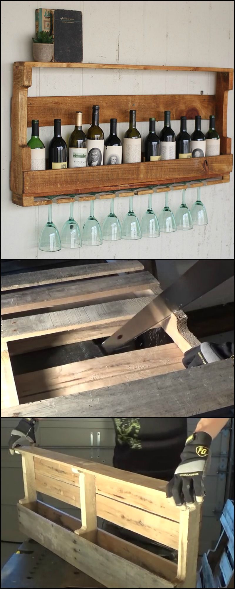 diy wine rack from recycled pallet this storage idea is perfect for wine lovers who don t leave their wine unconsumed for too long