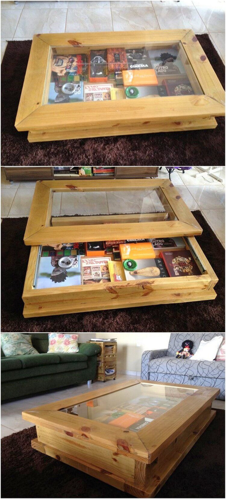this artistic designed creation of the old wood pallet is a unique piece of pallet table the interesting part of this table is that it would offer you with