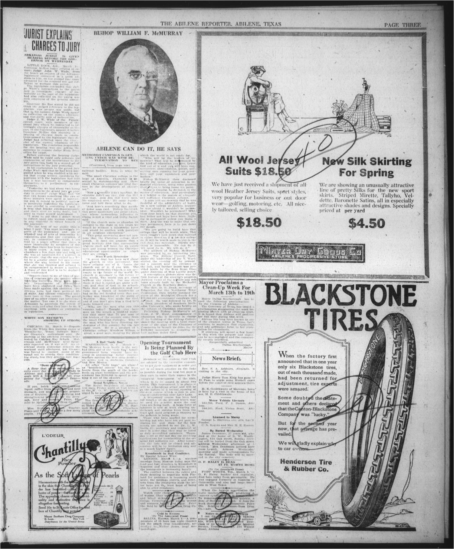 the abilene daily reporter abilene tex vol 34 no 88 ed 1 wednesday march 9 1921 page 3 of 8 the portal to texas history