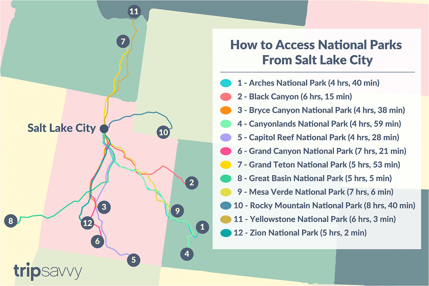 driving distance drive times from salt lake city to national parks 3362273 final ac 01 5c13ff0646e0fb000166e90b png