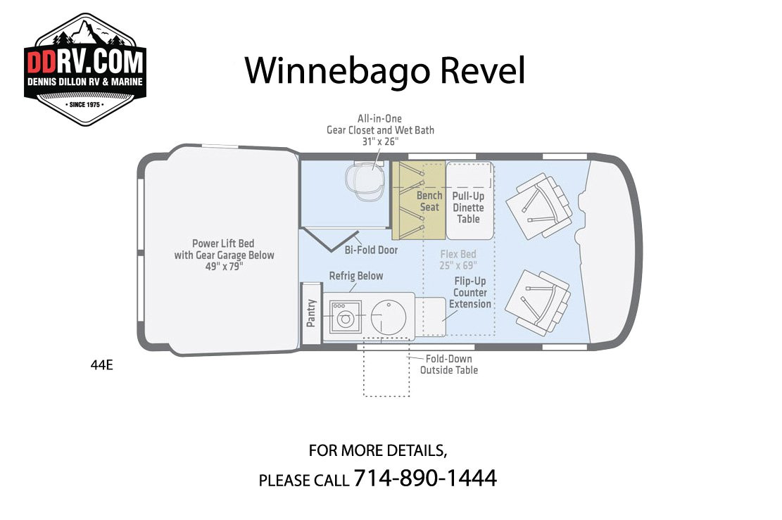 new 2019 winnebago revel 44e