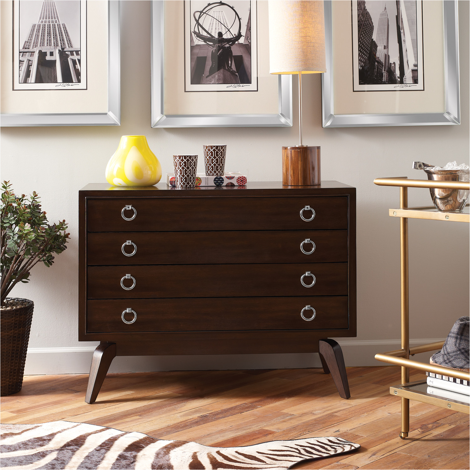 Drop Pulls for Dressers Contemporary with A Retro Feel the Omni Hall Chest Features A Deep