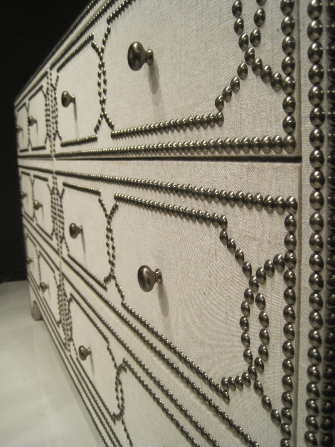 Drop Pulls for Dressers Nailhead Over Fabric Covered Dresser Do This with Expedit Door