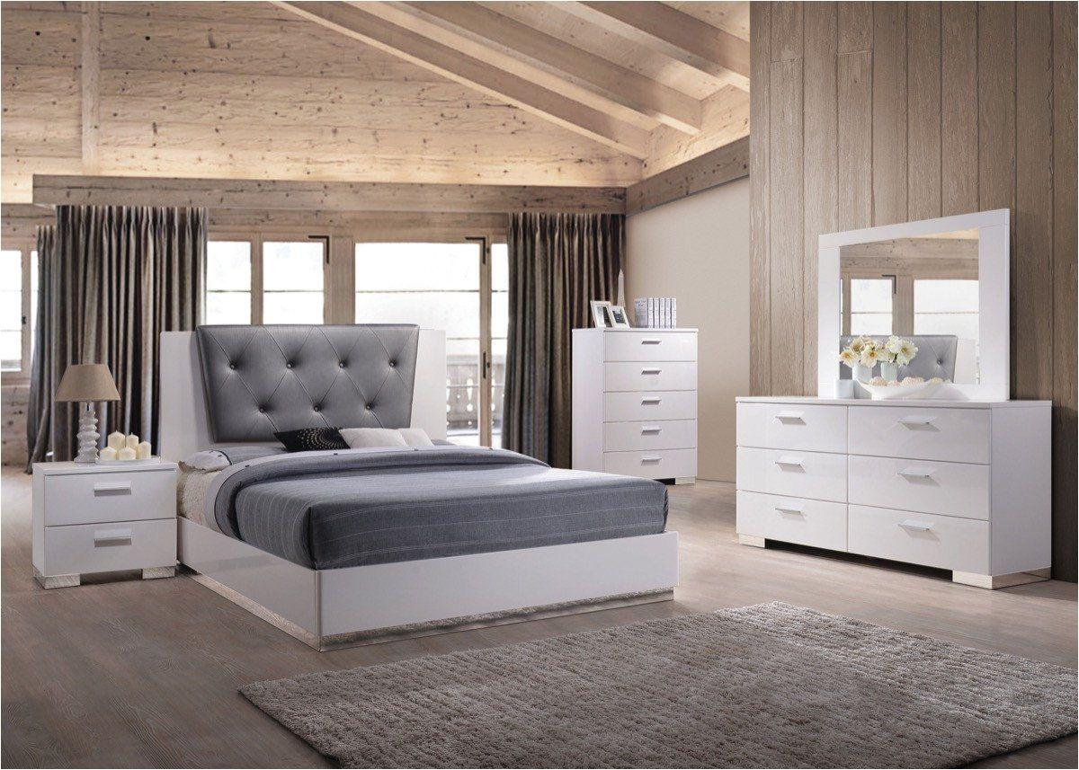acme lorimar ii eastern king bed gray pu white 22617ek