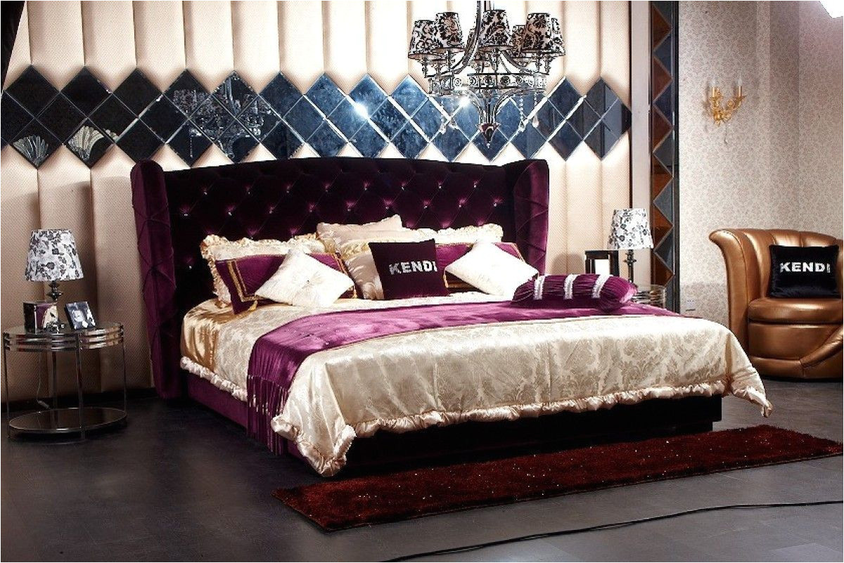 modrest majestic transitional purple fabric eastern king size bed vgknn5028 purpleproduct a