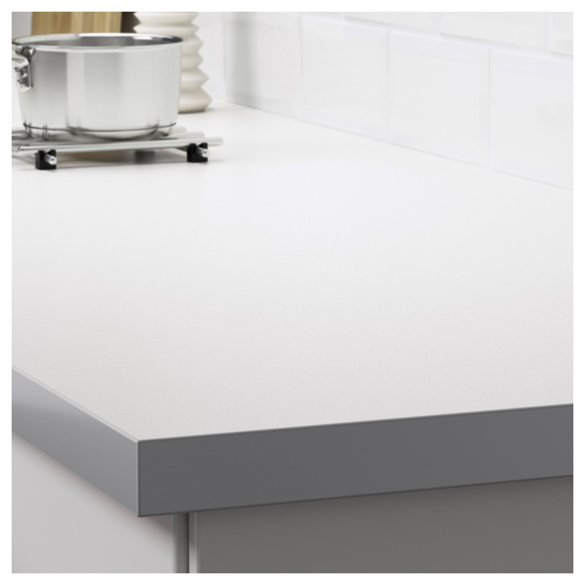 ikea ha llestad countertop double sided white aluminum effect with