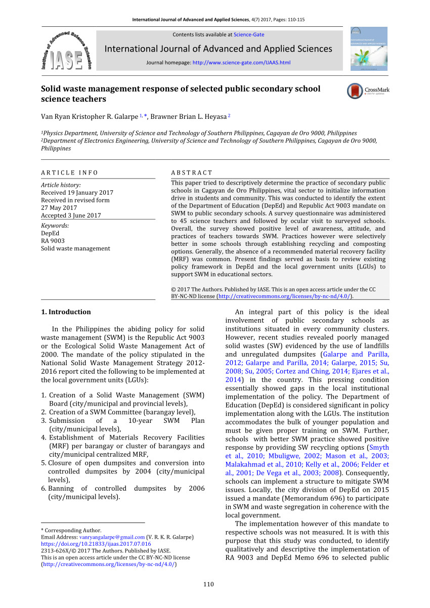 pdf solid waste characterization and recycling potential for university technology petronas academic buildings