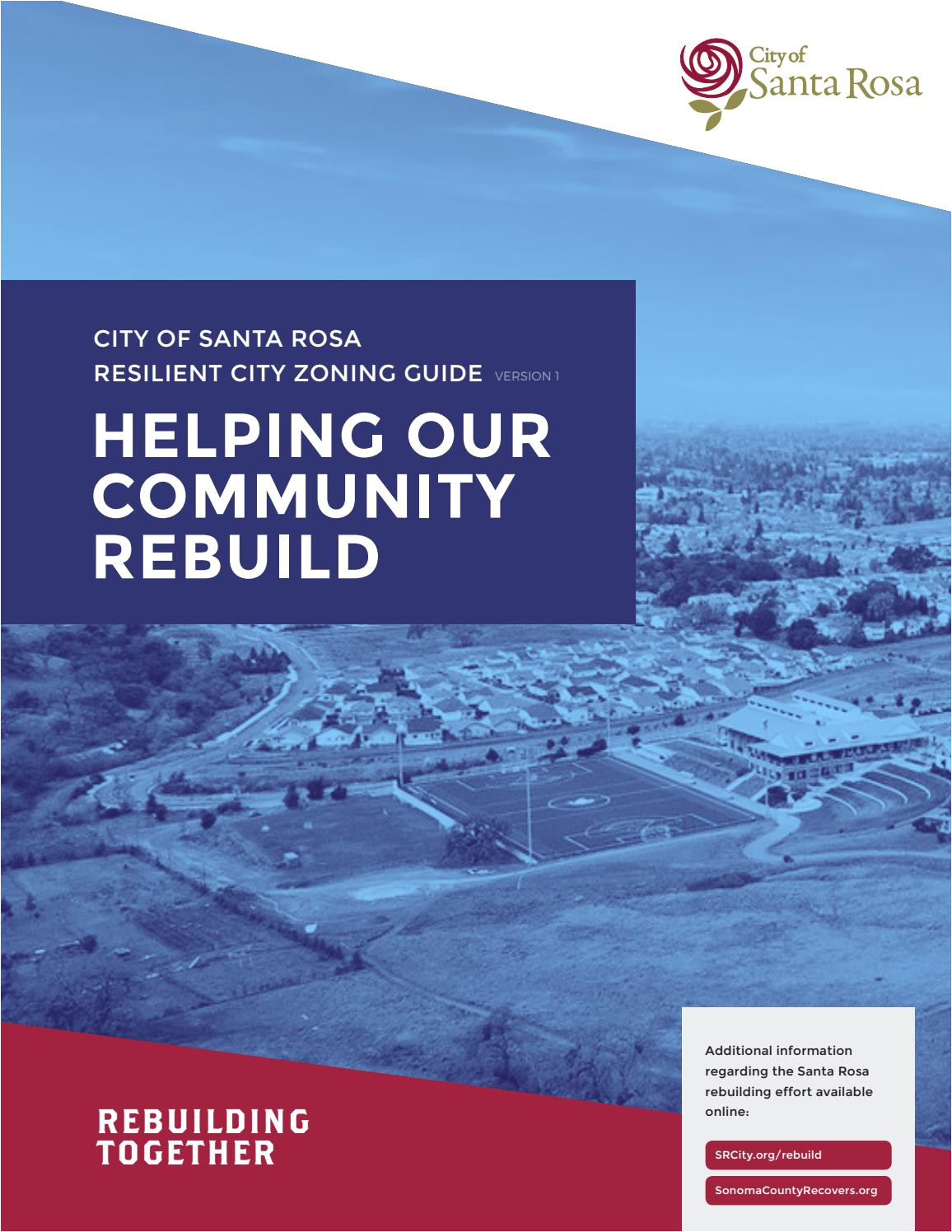 city of santa rosa resilient city zoning guide by city of santa rosa issuu