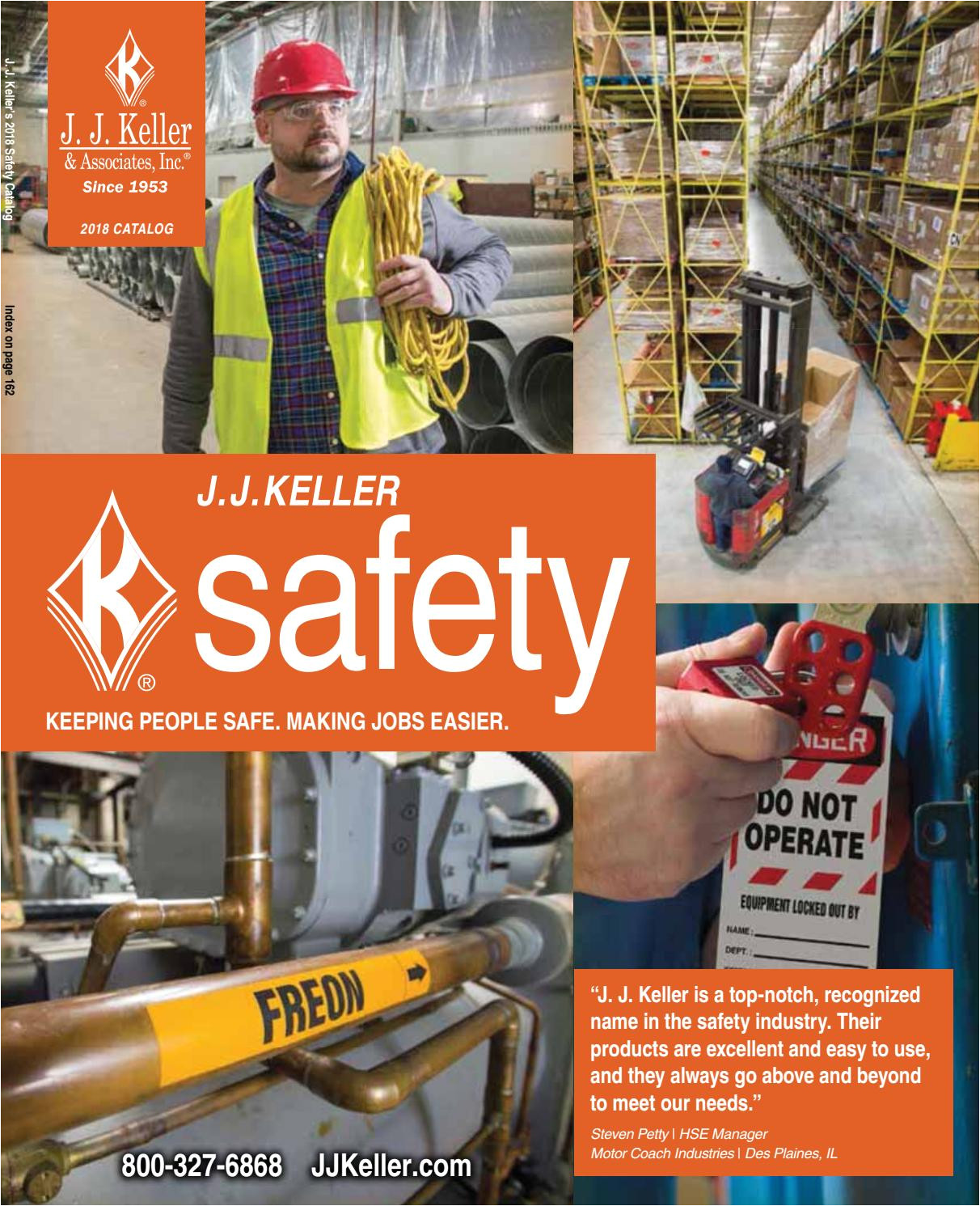 j j keller s 2018 safety catalog by j j keller associates inc issuu