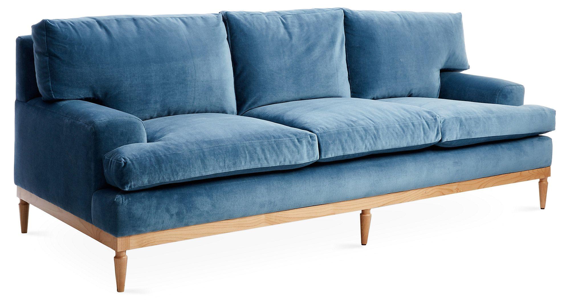 english roll arm sofa tight back luxury sutton 89 quot sofa harbor blue velvet e kings