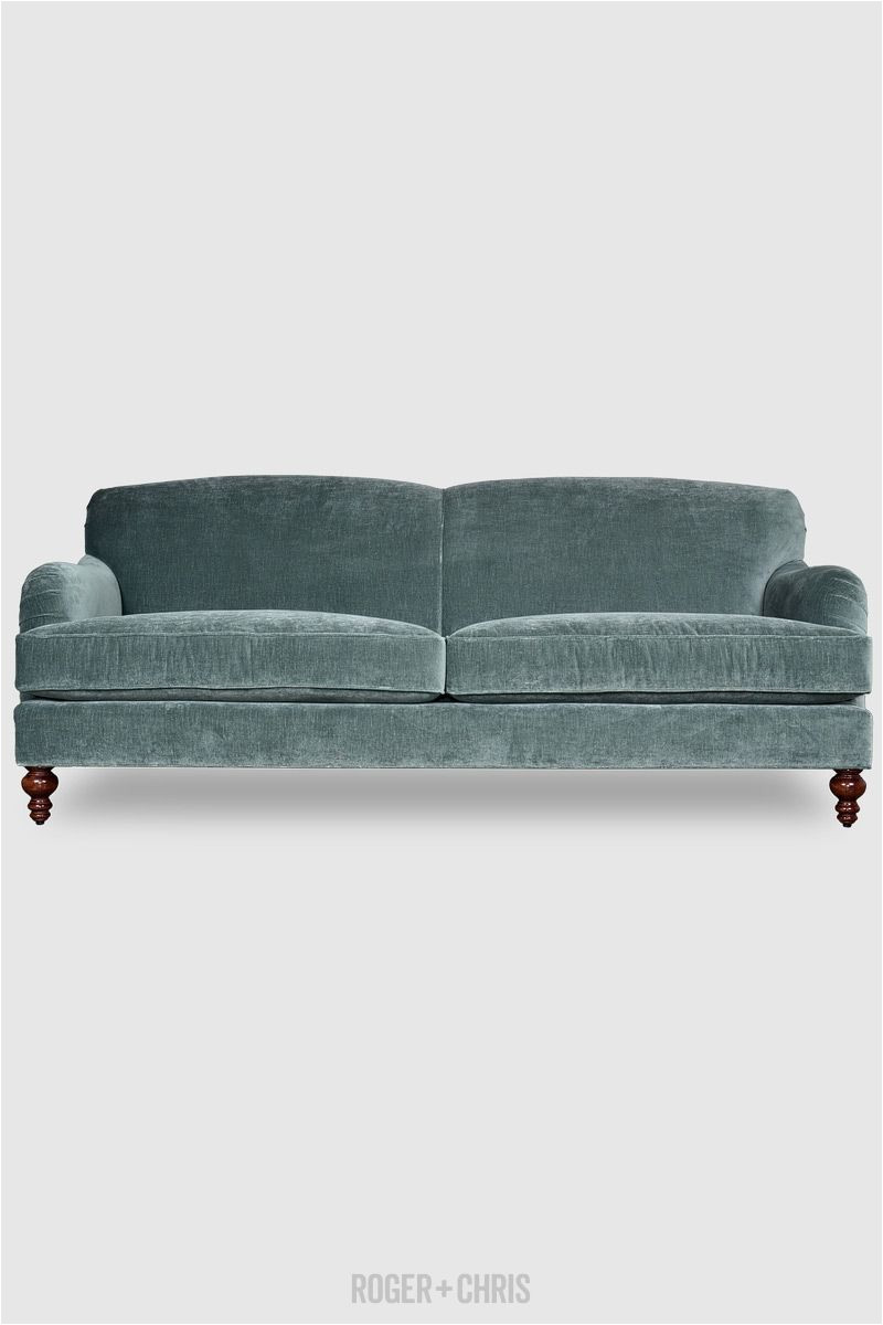 basel tight back english roll arm sofa in cannes silver sage velvet fabric roger chris