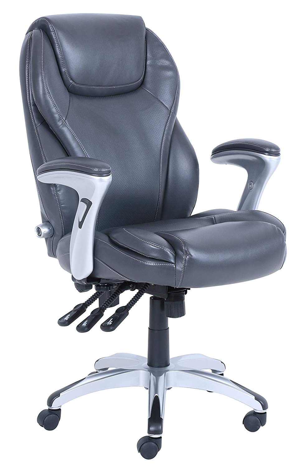 amazon com serta chr10054a ergo executive office chair gray kitchen dining