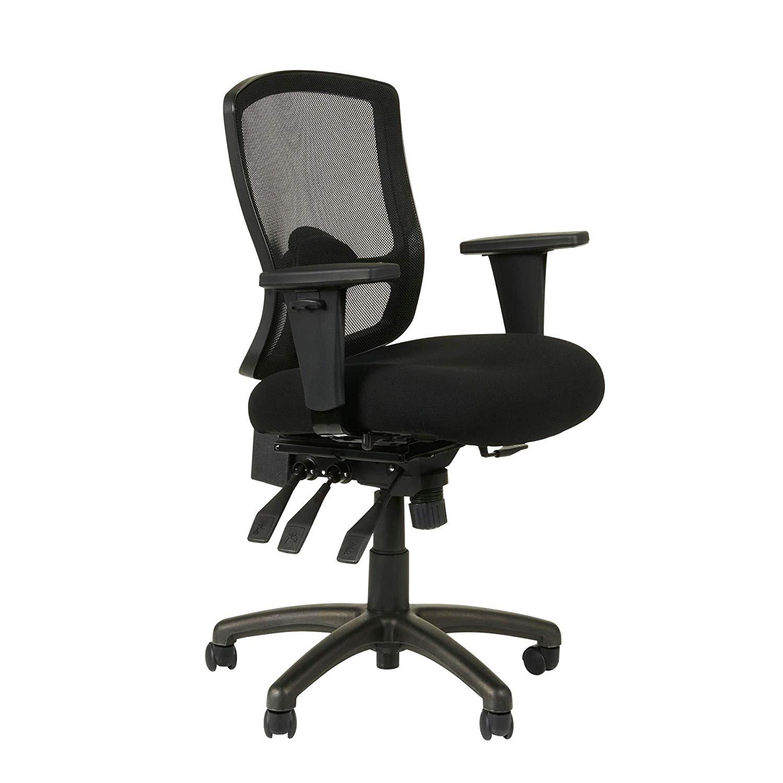 amazon com alera aleet4017 etros series petite mid back multifunction mesh chair black kitchen dining