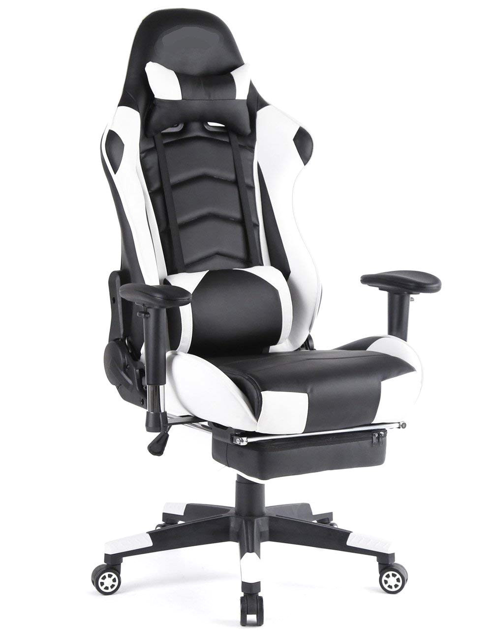 amazon com top gamer ergonomic gaming chair high back swivel computer office chair with footrest adjusting headrest and lumbar support racing chair
