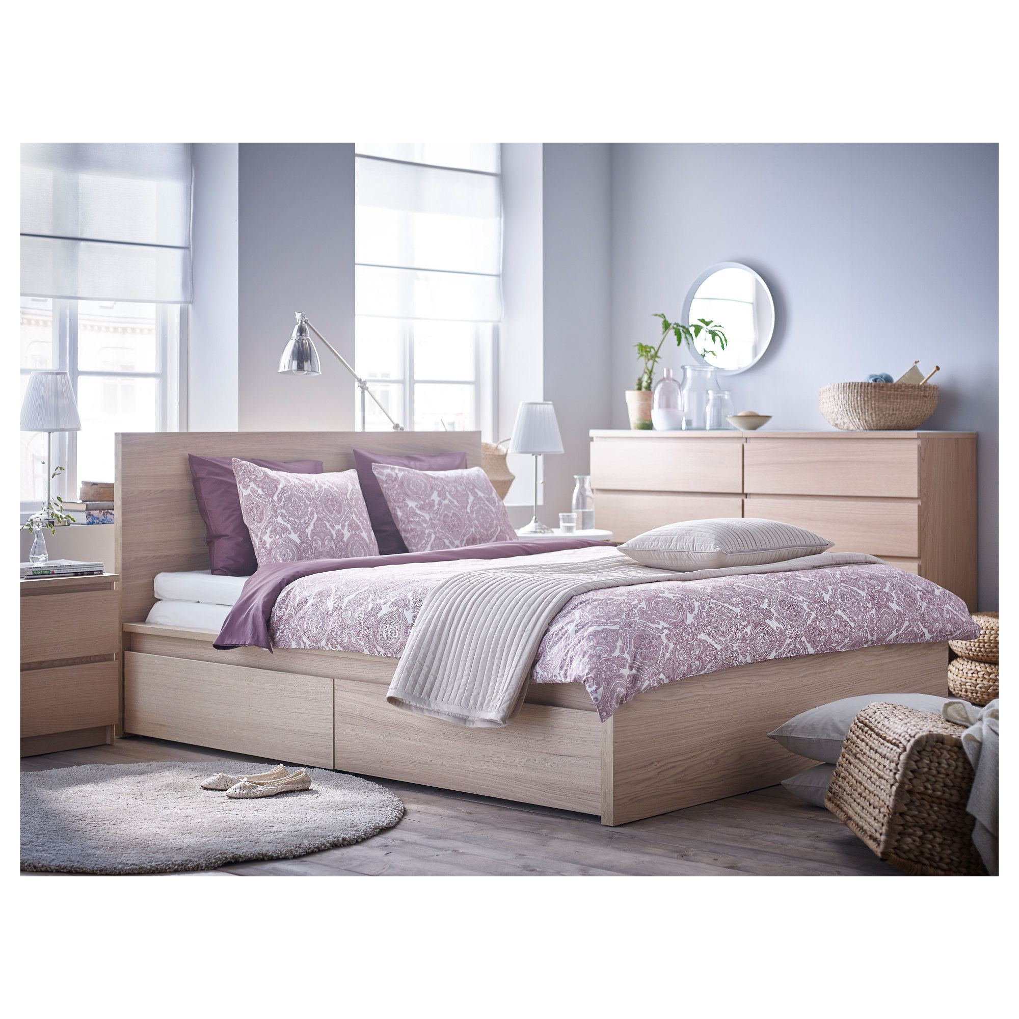 ikea malm high bed frame 2 storage boxes queen luroy the 2 large drawers on casters give you an extra storage space under the bed