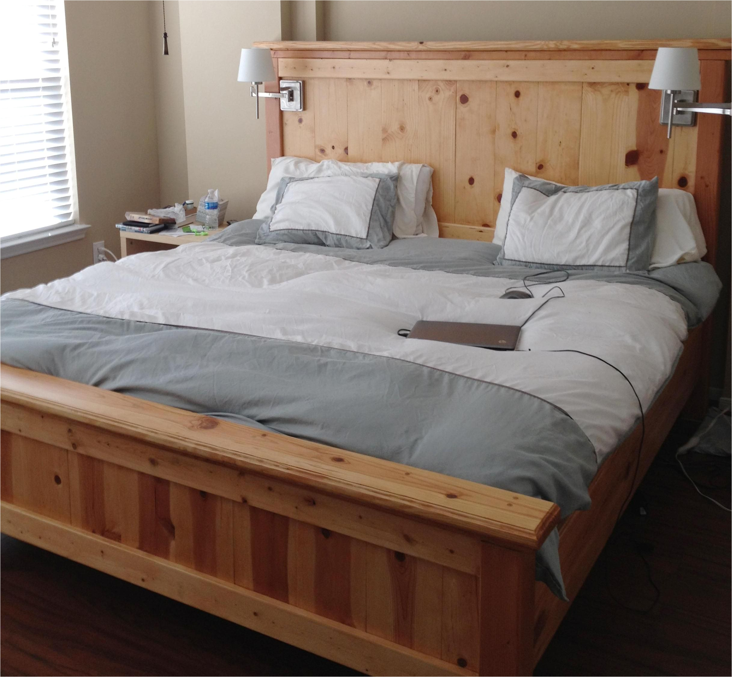 bed frame blueprints free farmhouse bed king do it yourself home projects from ana white