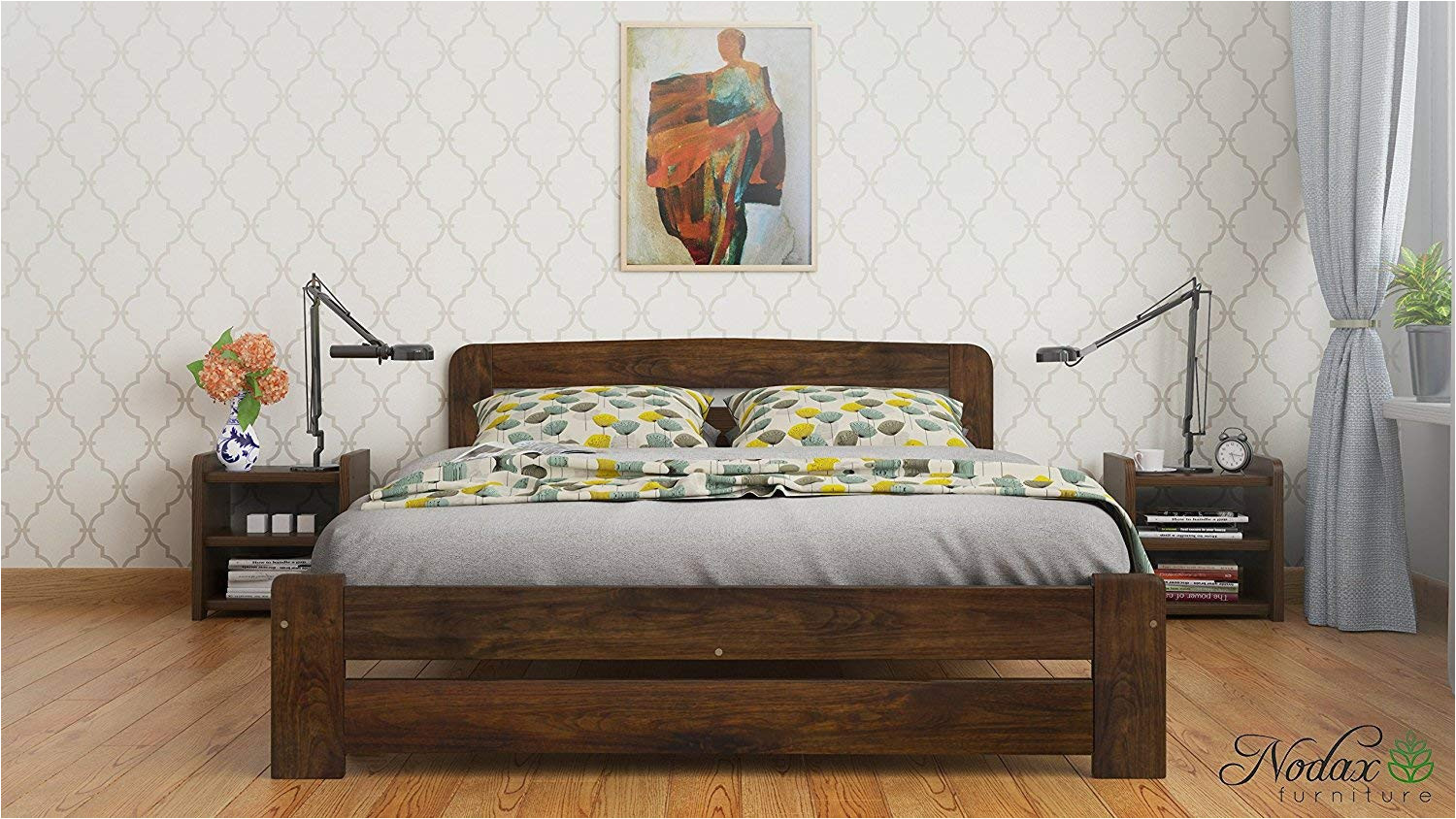 new super king size solid wooden bedframe f1 with slats and extra four supportive legs 6ft walnut amazon co uk kitchen home