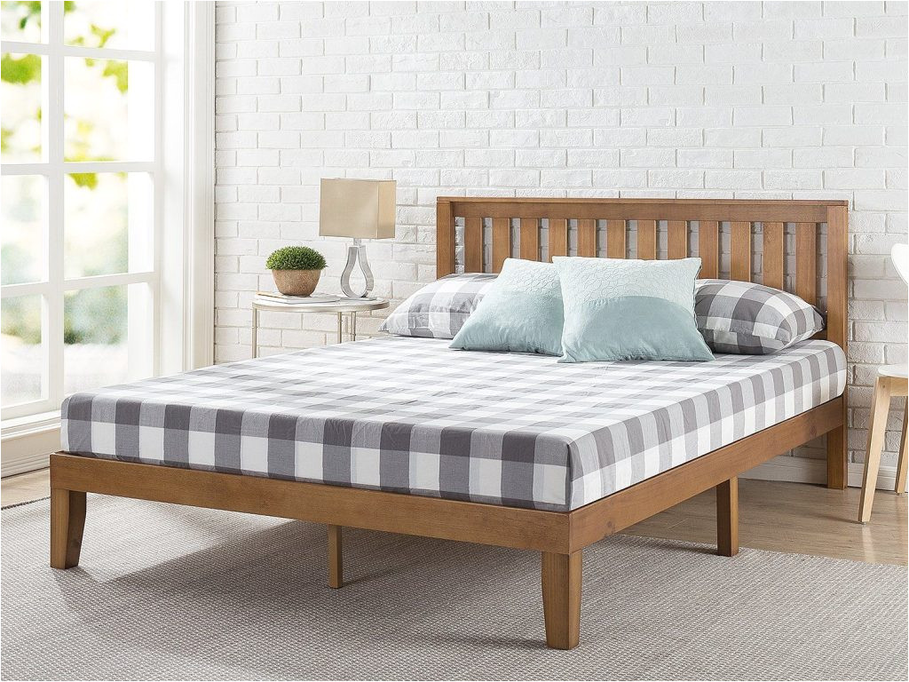 zinus 12 wood platform bed frame w headboard