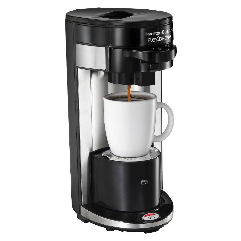 hamilton beach re certified flexbrew single serve coffee maker black r1019