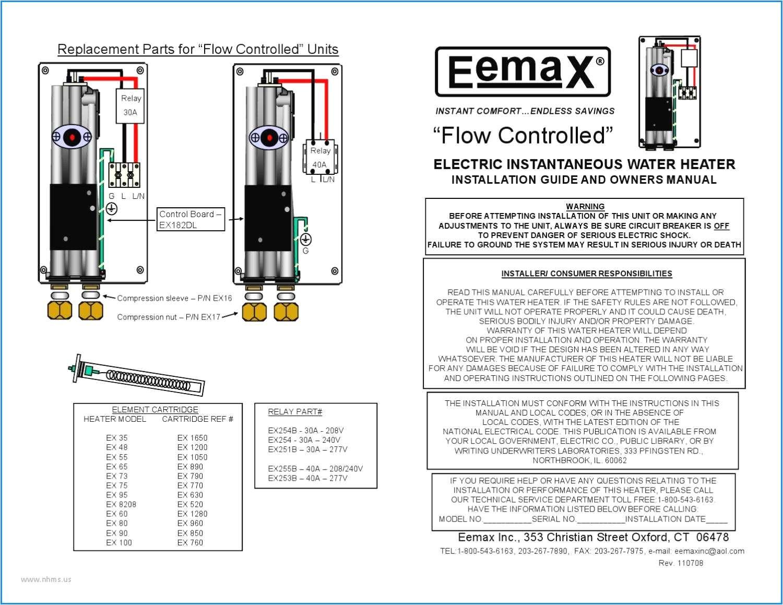 eemax tankless water heater wiring diagram complexness eemax electric tankless water heater installation manual