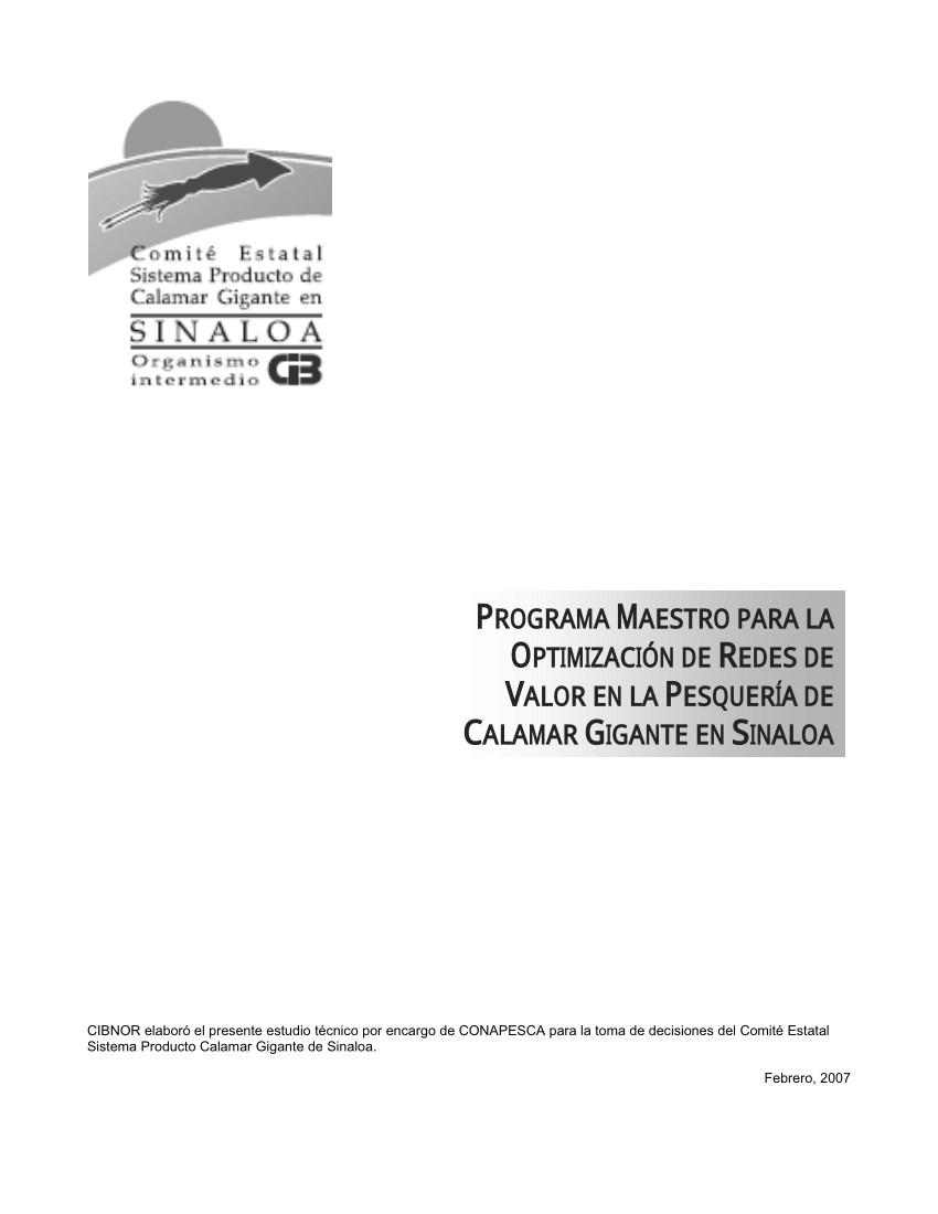 pdf programa maestro para la optimizacia n de redes de valor en la pesquera a de calamar gigante en sinaloa