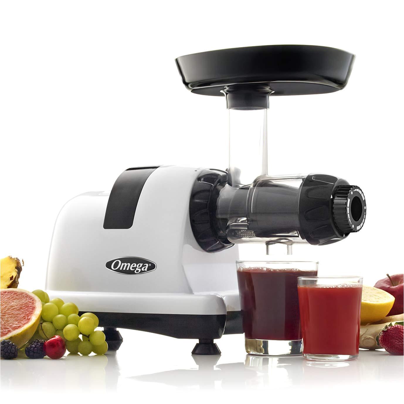 amazon com omega j8006 nutrition center masticating dual stage juicer metallic electric masticating juicers kitchen dining