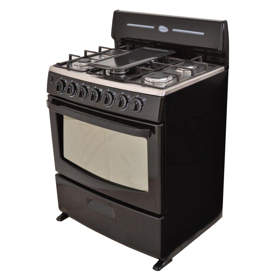 cetron cocina ecg3040nis0 6 quemadores de 30 tablero de acero inoxidable rejillas de porcelana elsalvador guatemala republicadominicana mayo