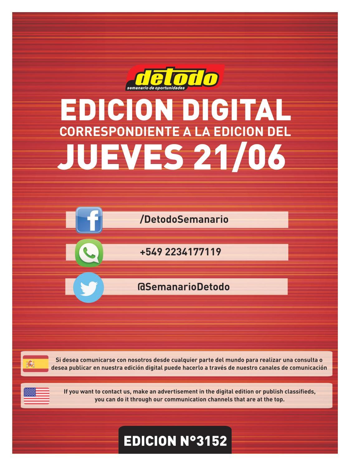 semanario detodo edicia n na 3152 21 06 2018 by semanario detodo issuu