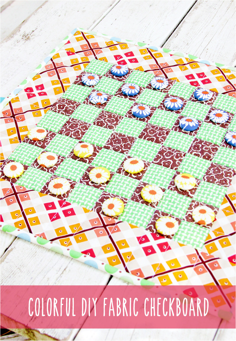 colorful diy fabric checkerboard game