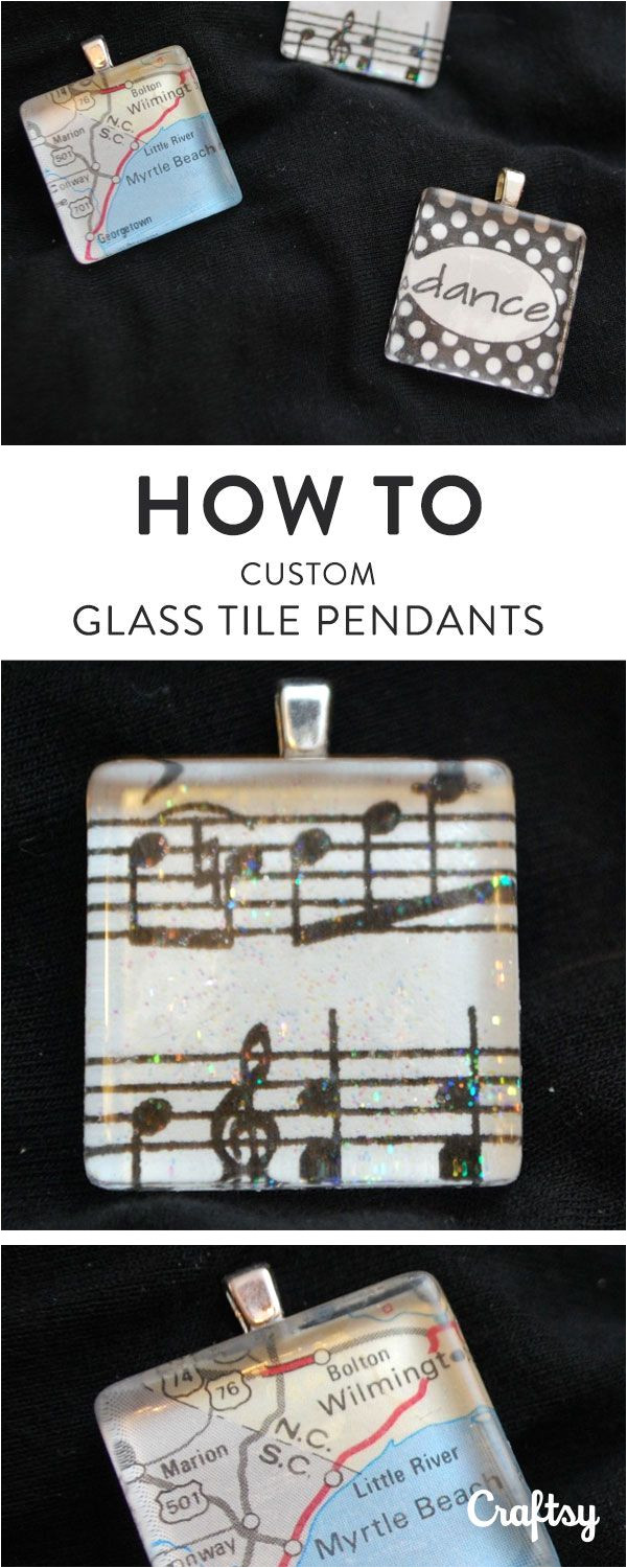 how to make glass tile pendants