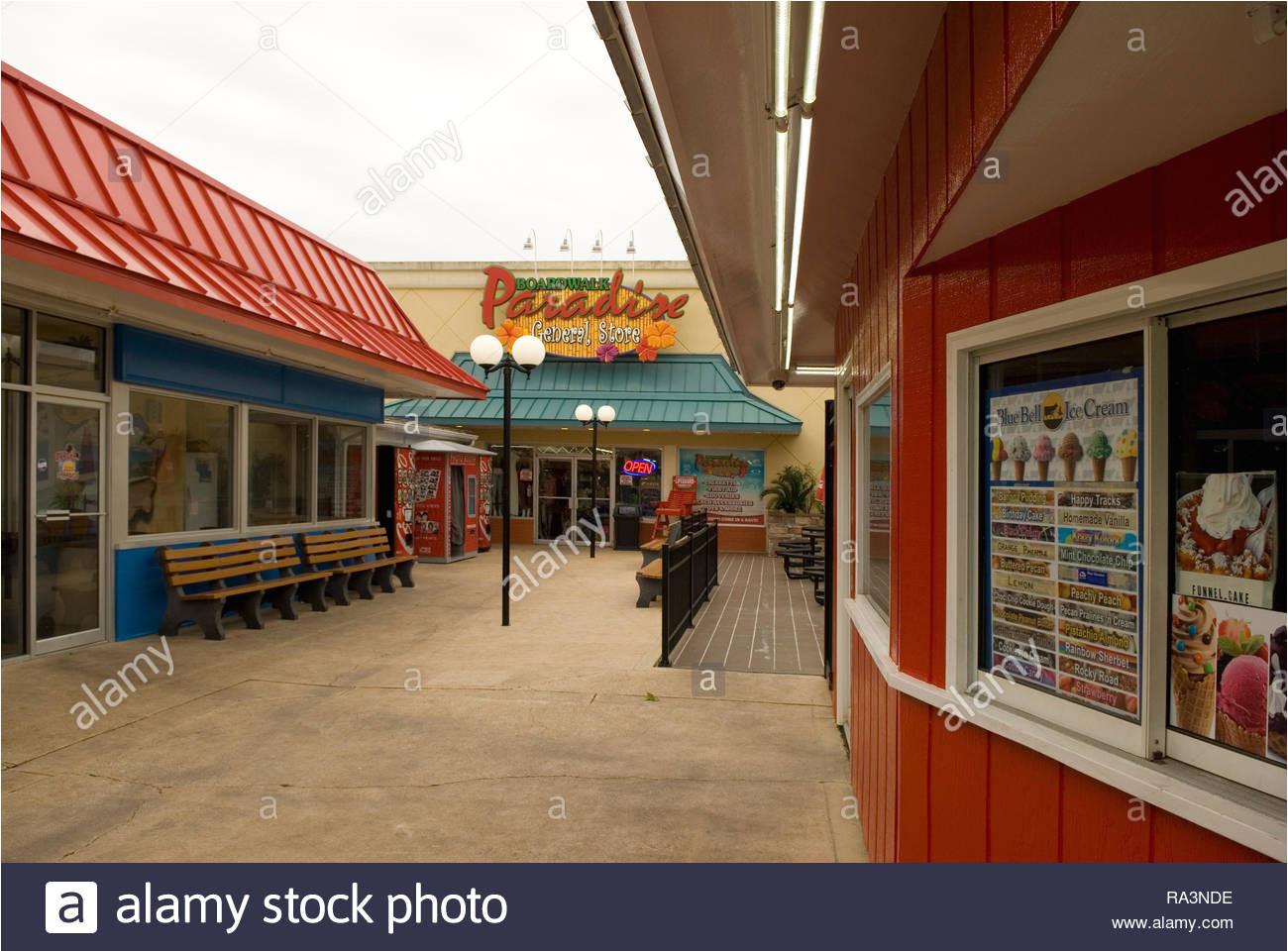 boardwalk paradies general store myrtle beach south carolina usa stockbild
