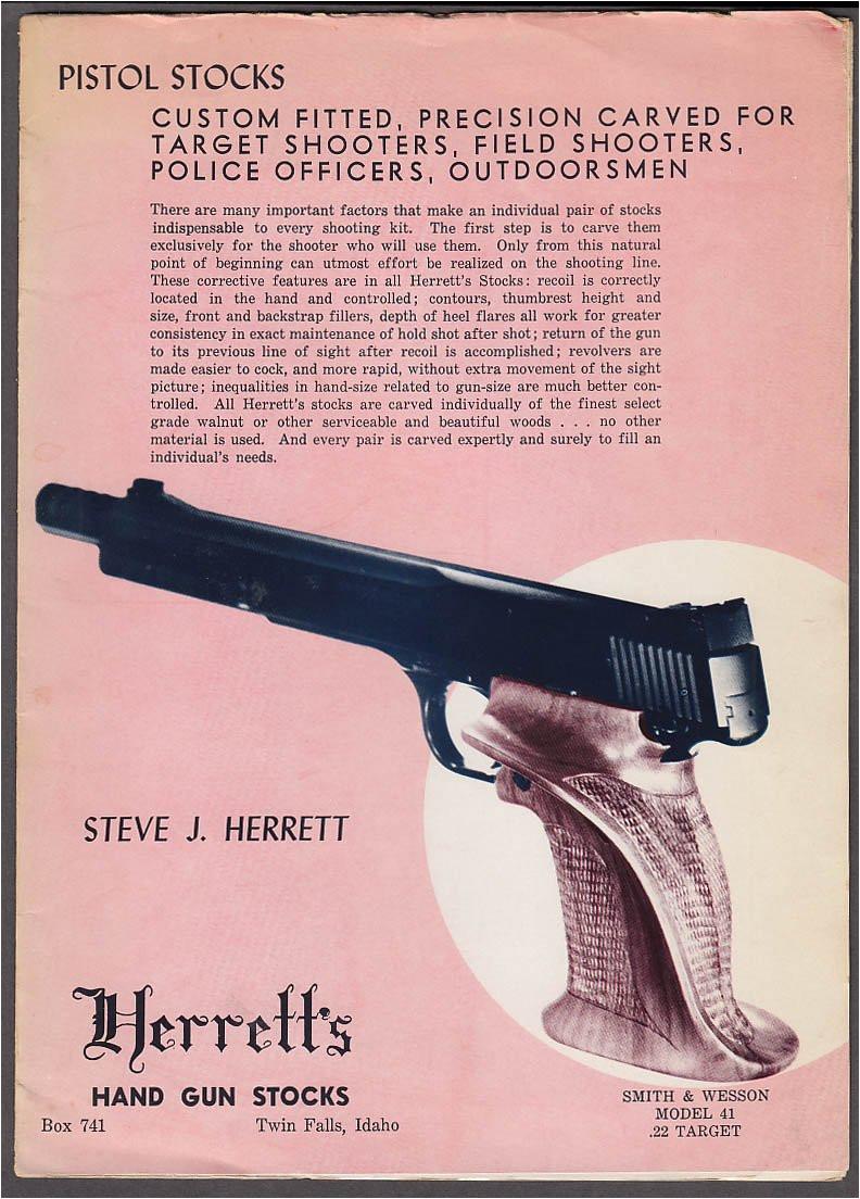herrett s handgun stocks catalog folder 1950s twin falls id at amazon s entertainment collectibles store