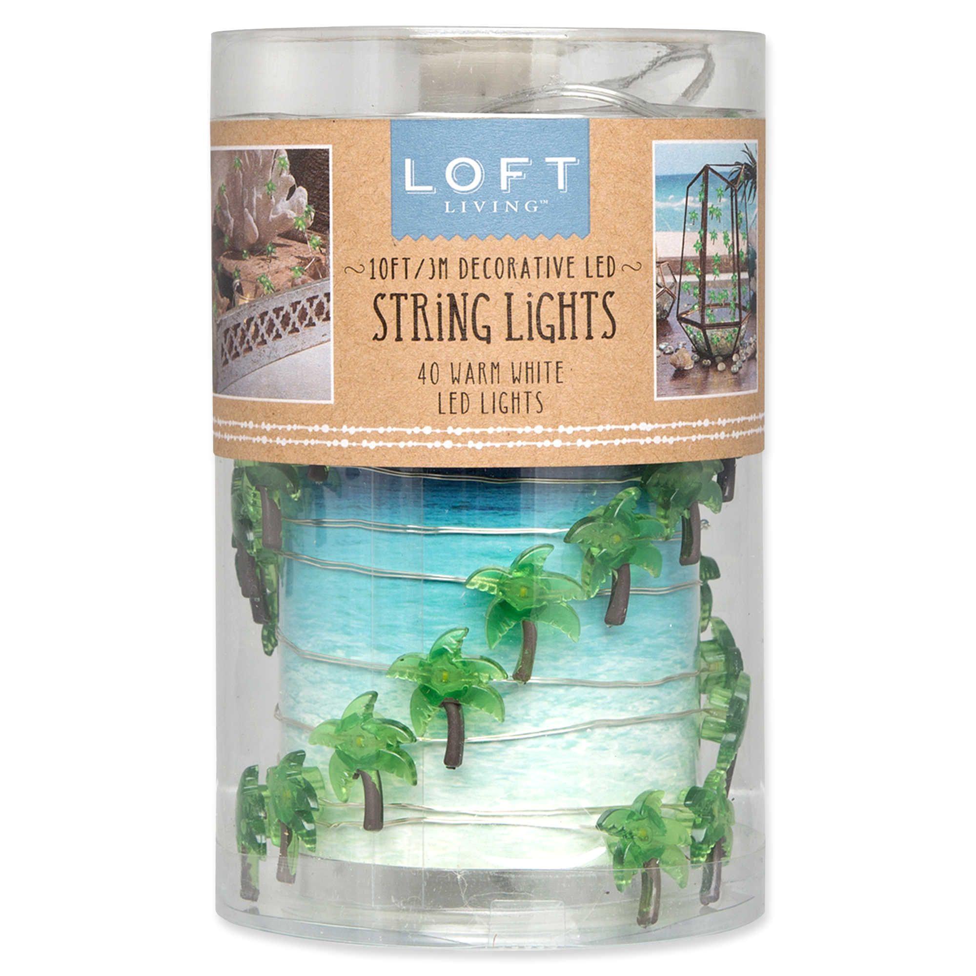 loft living 10 foot 40 light led micro palm trees string lights in green