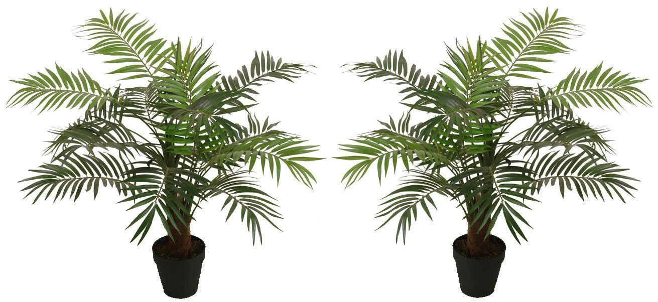 2 best artificial 90cm 3ft paradise palm trees outdoor indoor tropical conservatory office garden plant amazon co uk garden outdoors