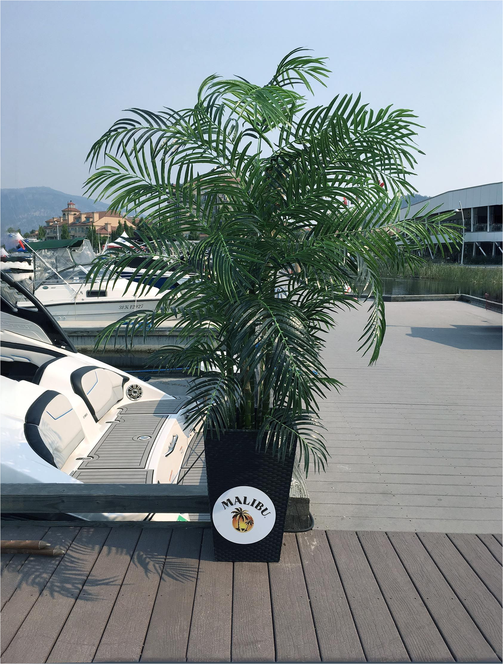 artificial silk palm tree 6 5 foot uv rated for outdoor and indoor