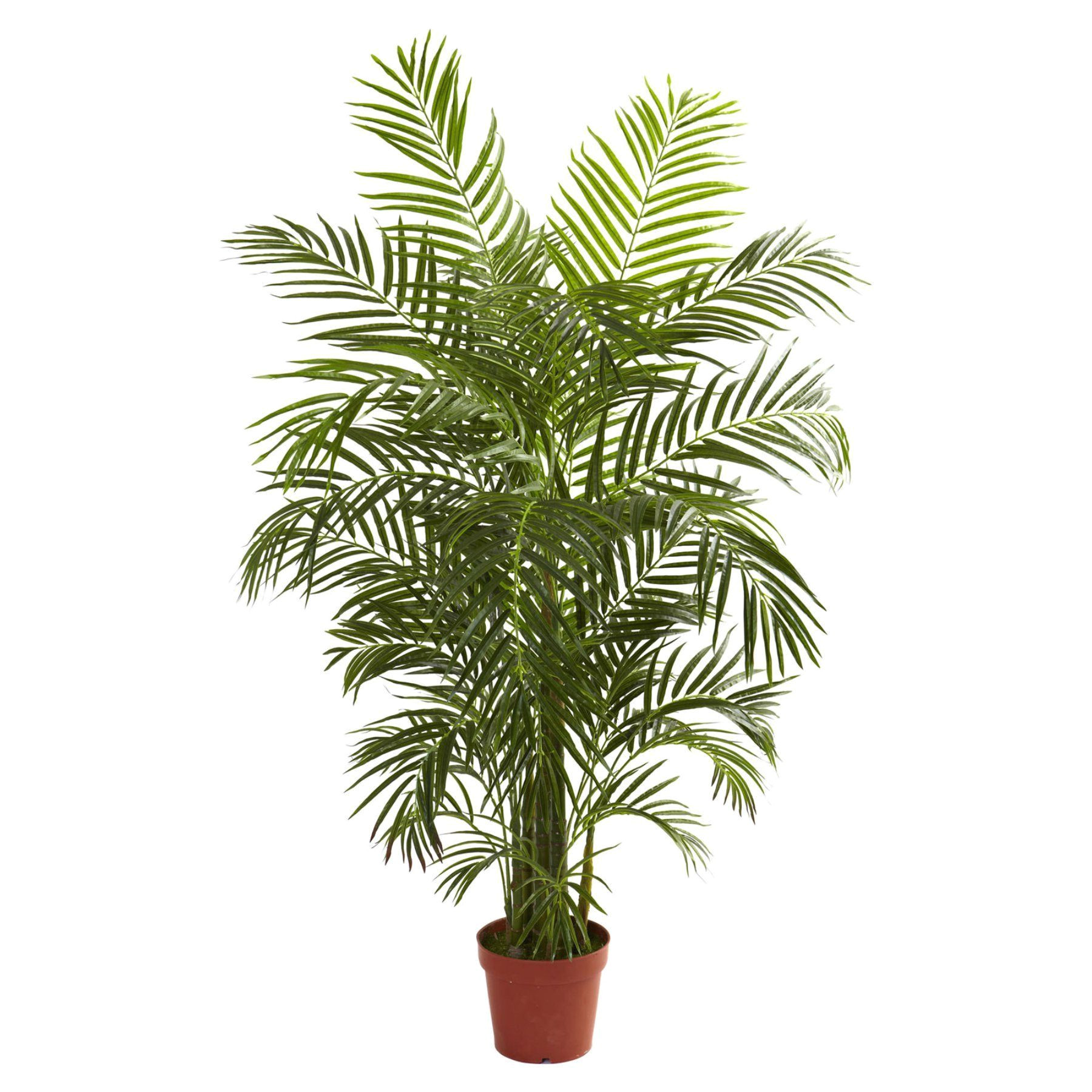 Fake Palm Trees for Sale Indoor Nearly Natural areca Uv Resistant Silk Palm Tree Products