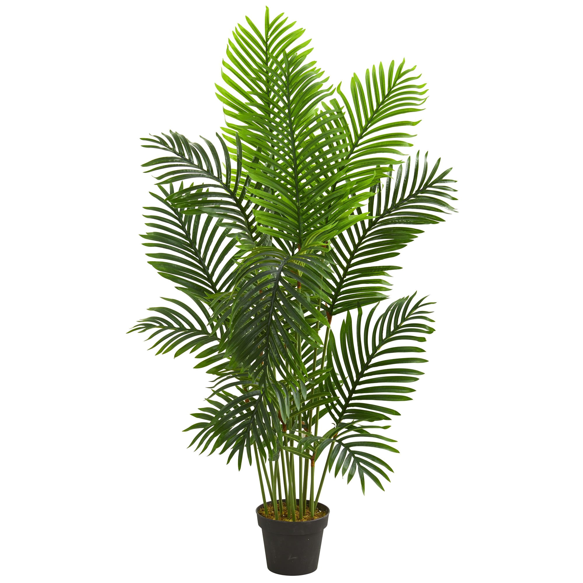 with different hues of a rich green this 5 foot paradise palm artificial tree