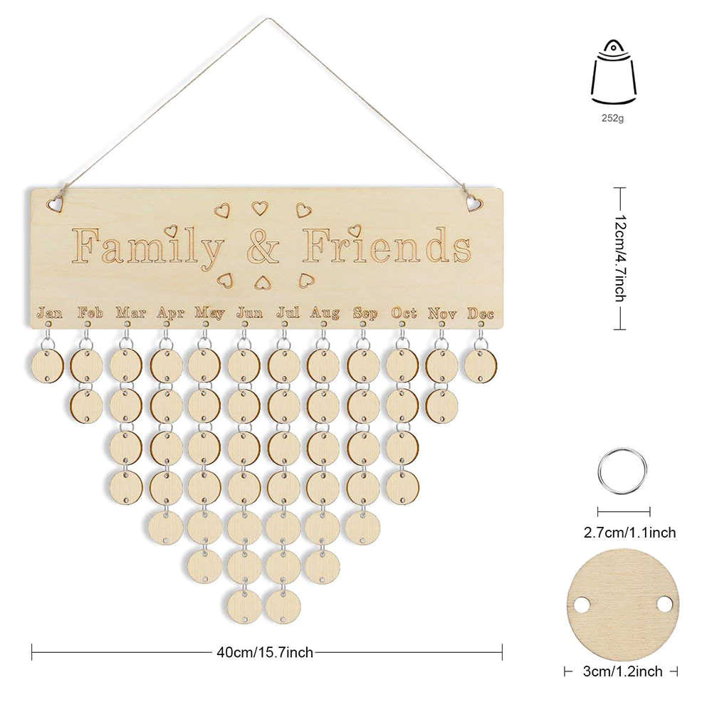 Family Birthday Board Diy Kit Detail Feedback Questions About Wooden Birthday Family Calendar Diy