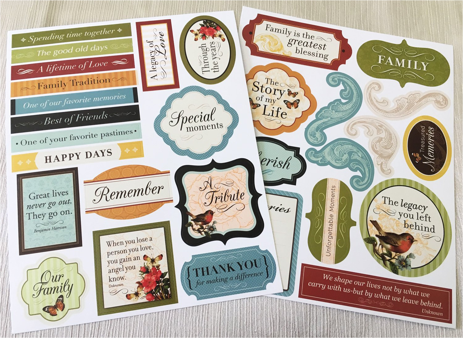 amazon com memory board photo collage kit 8 pages of stickers and embellishments for memorials funerals or celebration of life health personal care