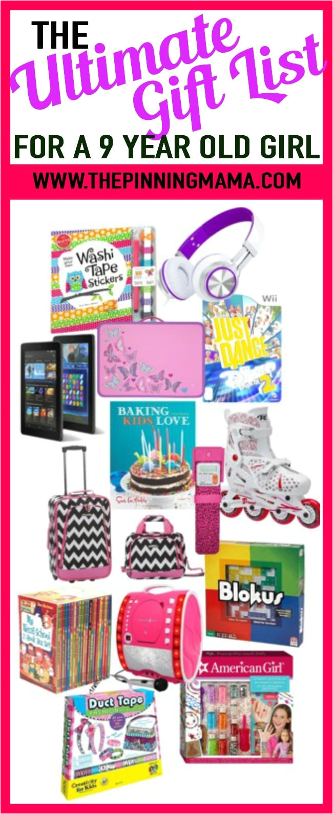 the best gift ideas for a 9 year old girl includes ideas for games