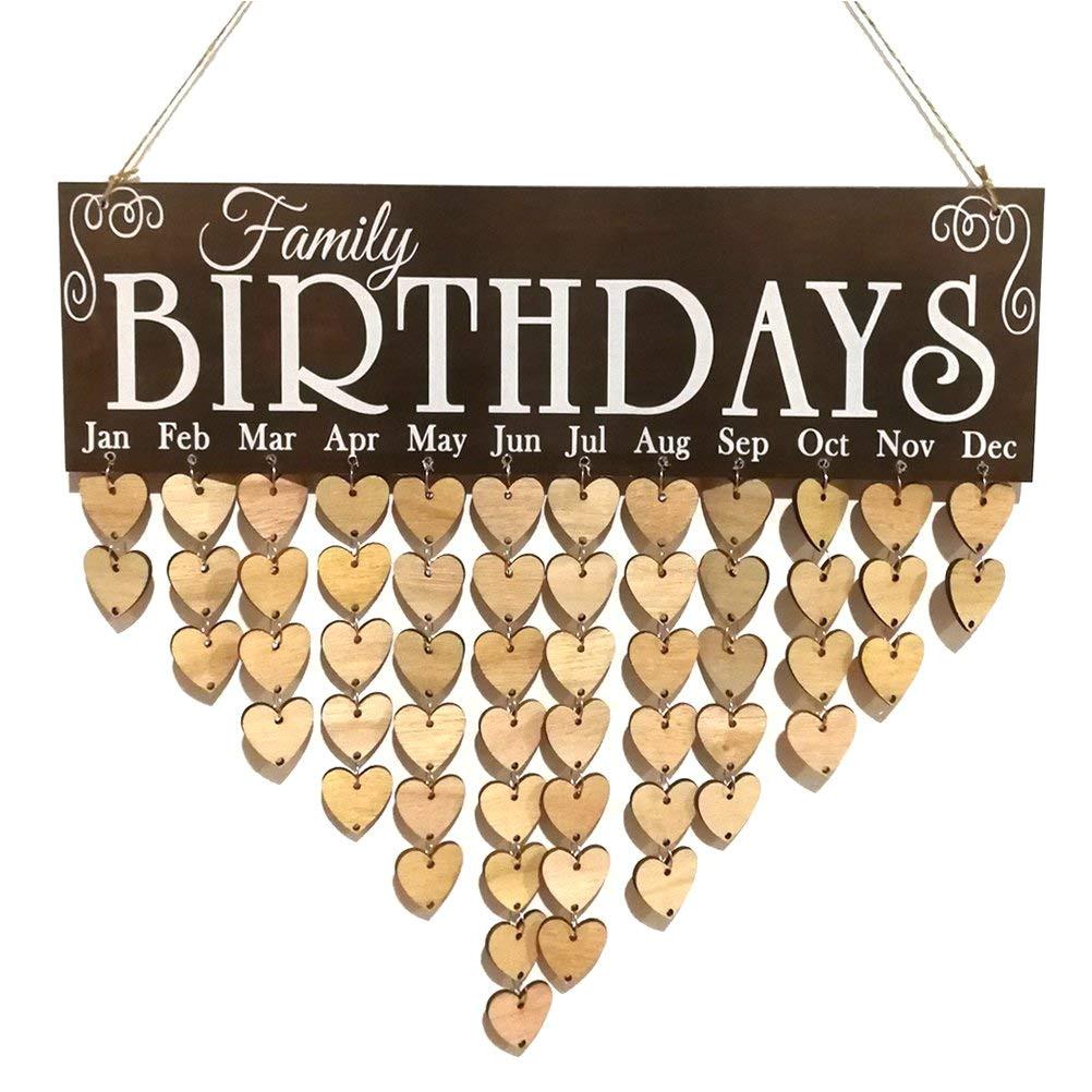 Family Birthday Board Kit Australia Vorcool Family Birthday Board Plaque Diy Hanging Wooden Birthday