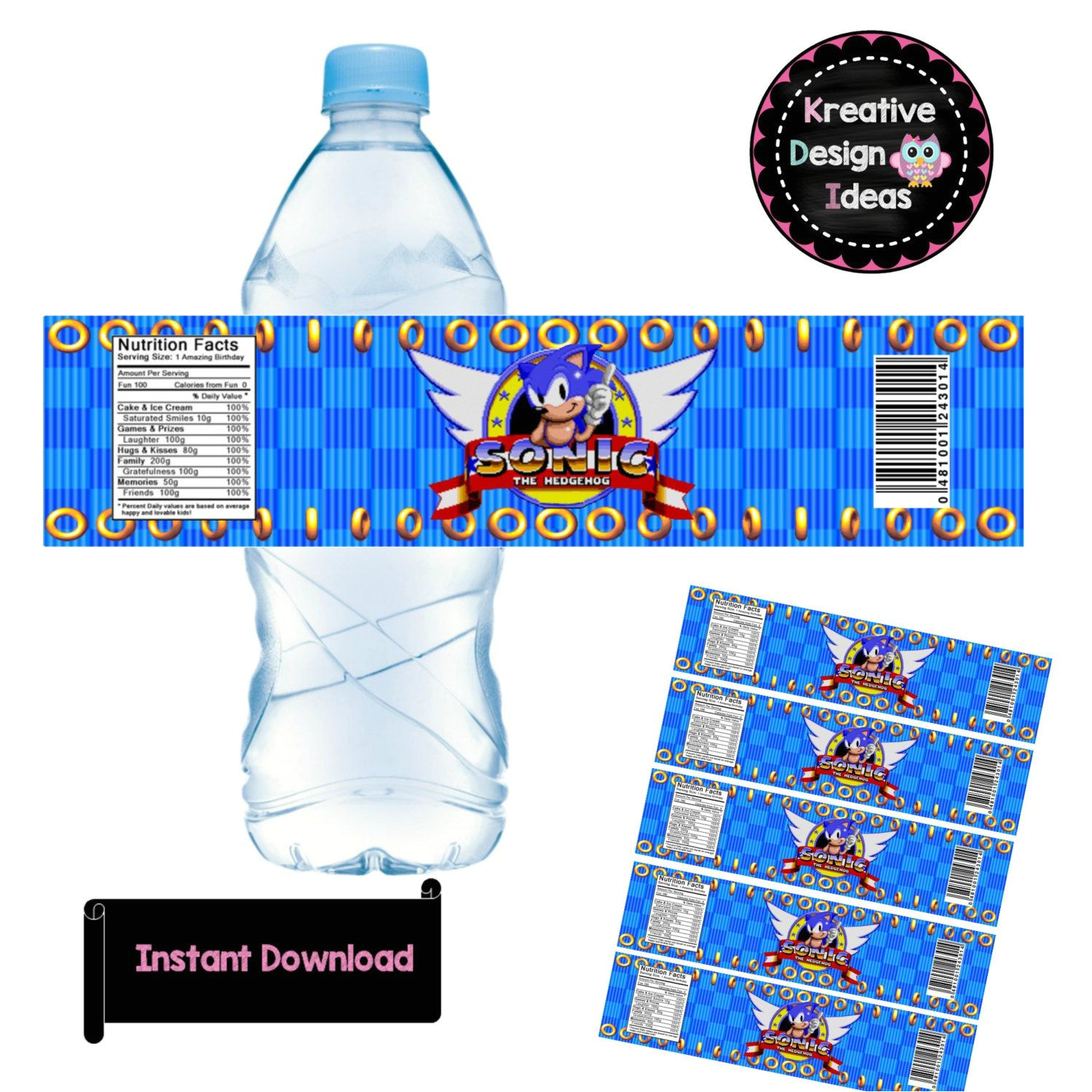 sonic birthday parties sonic party 7th birthday birthday ideas water bottle labels