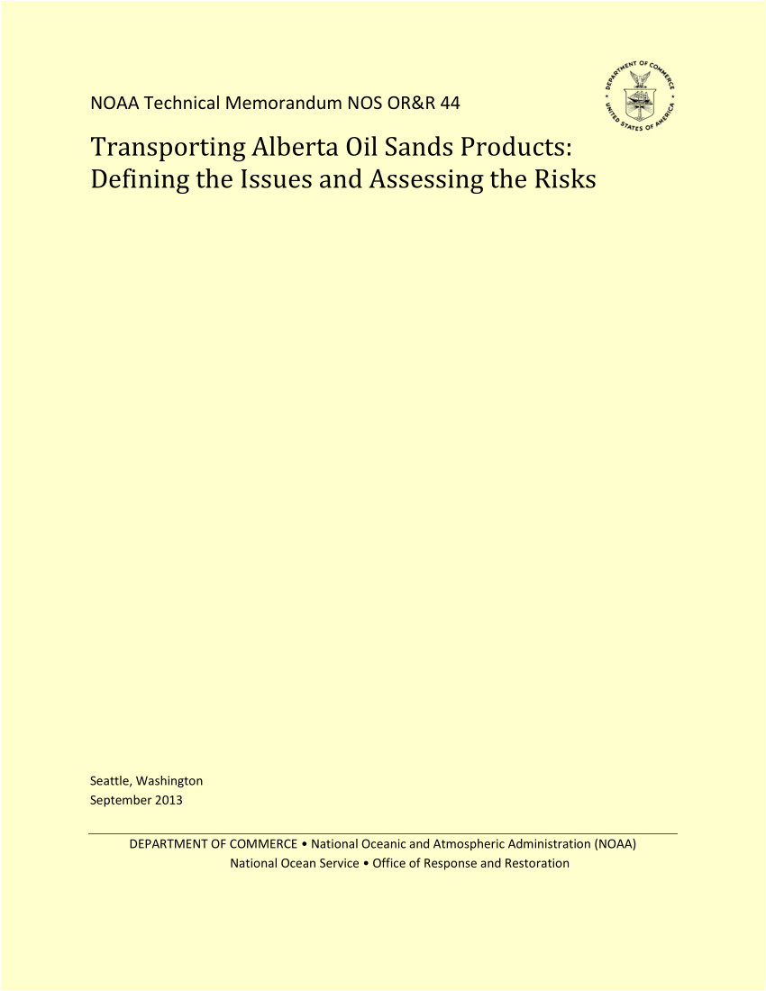 pdf transporting alberta oil sands products defining the issues and assessing the risks