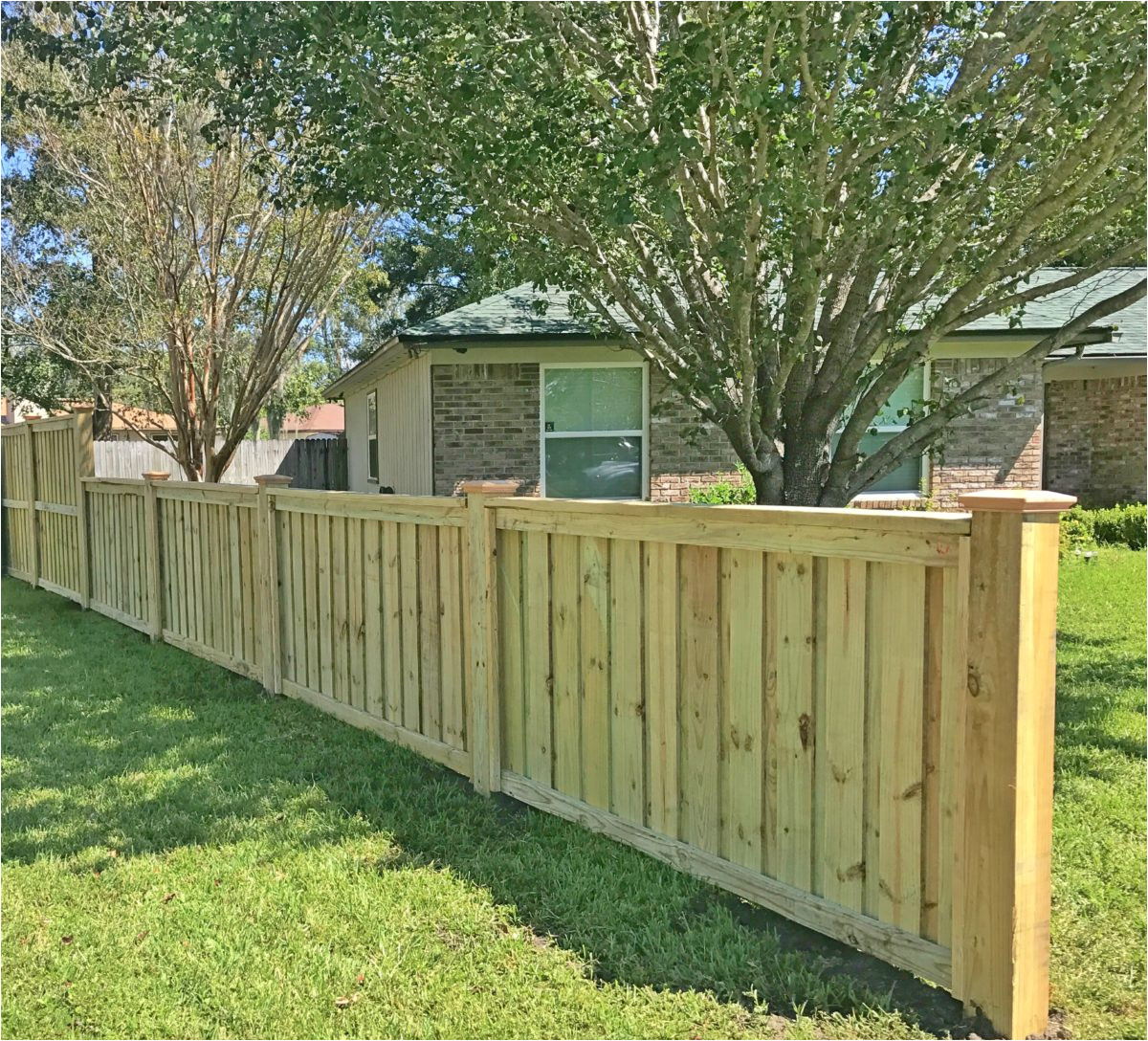 custom wood fencing built with pride