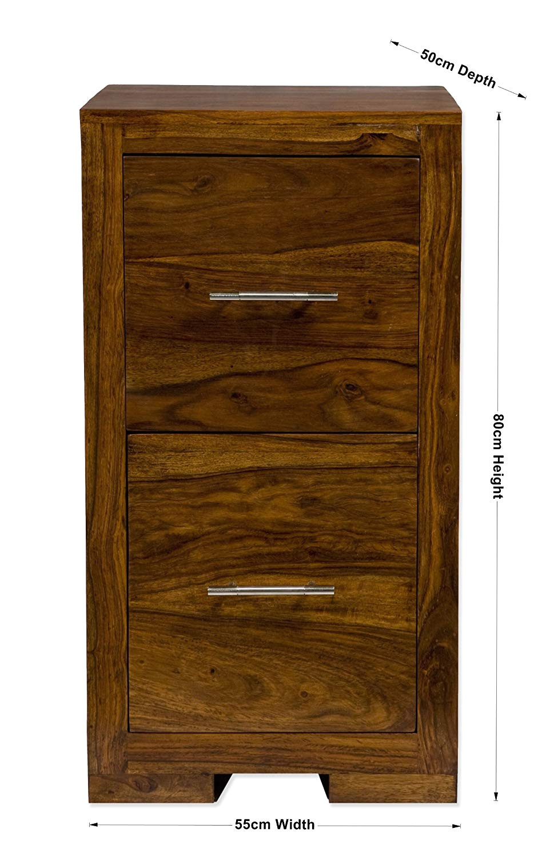 indian sheesham 2 drawer wood office study filing cabinet oaklands furniture amazon co uk kitchen home