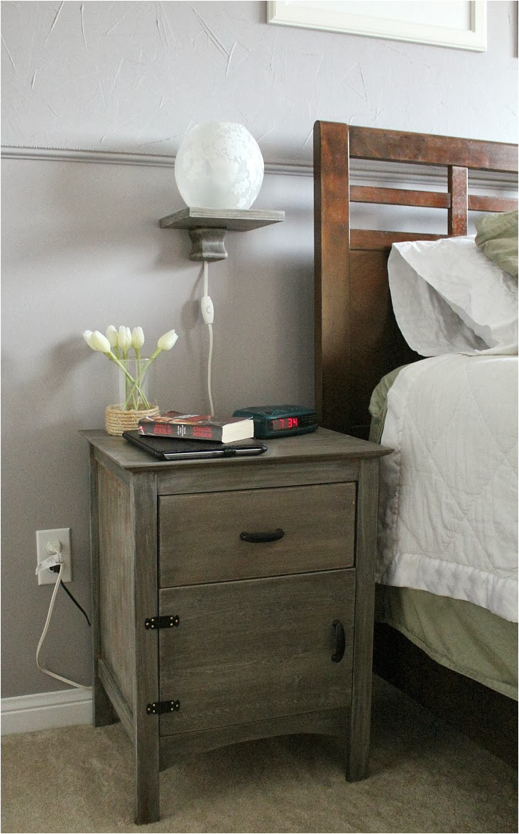old bedside wood nightstand table with floating lamp storage and drawer ideas rustic slim night tables