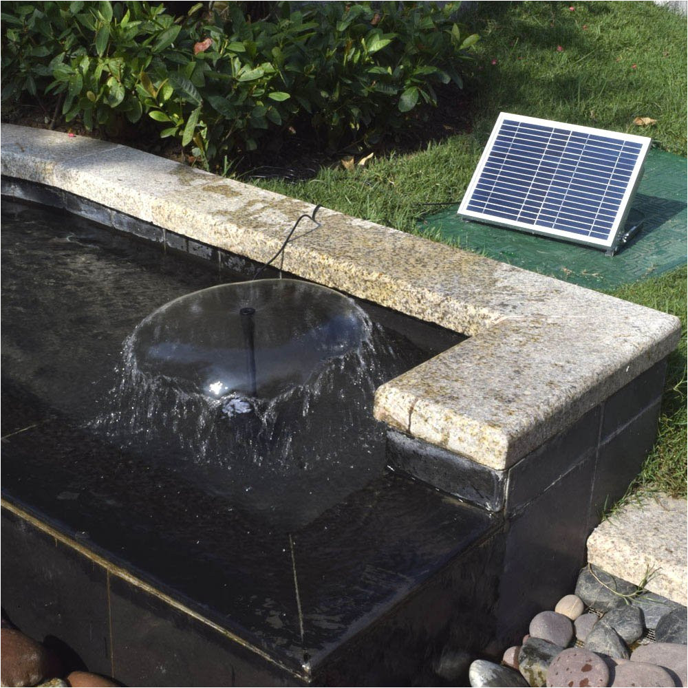 anself polycrystalline silicon 12v 5w solar brushless pump water cycle pond fountain type 3 amazon co uk garden outdoors