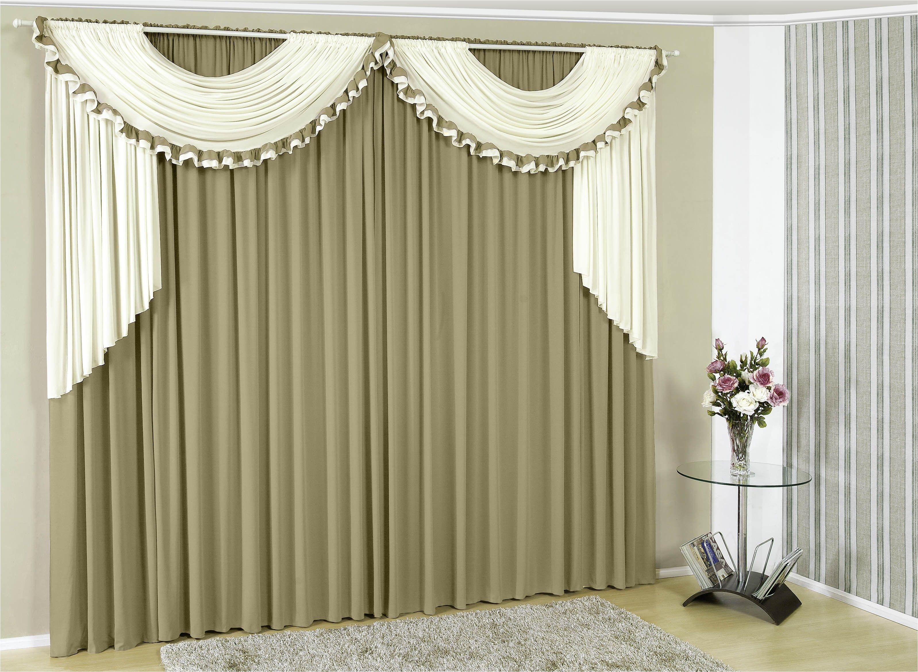 cortina gisele 3 00m x 2 50m p vara o duplo toda em malha