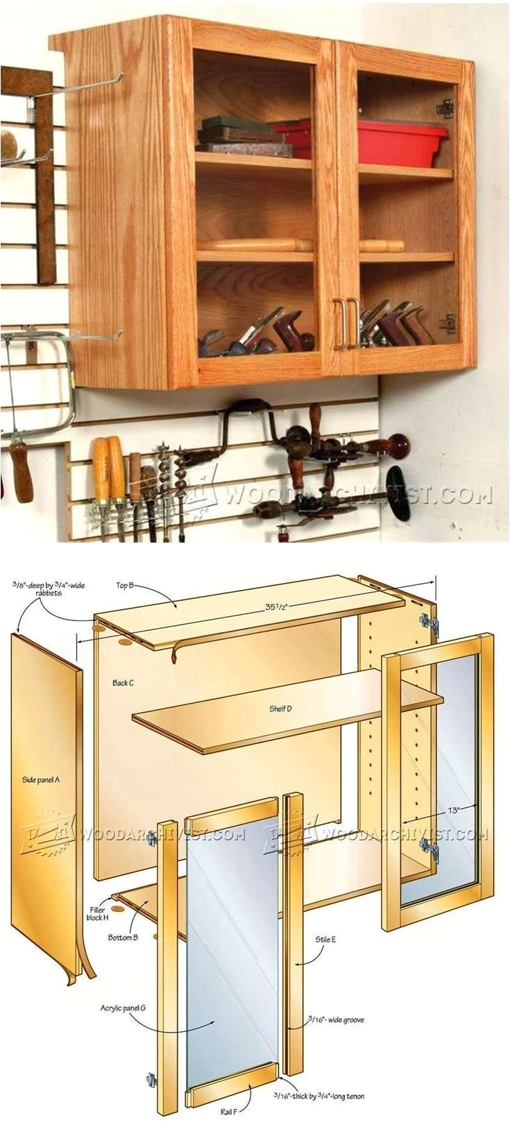 hand tool wall cabinet plans workshop solutions plans tips and tricks woodarchivist