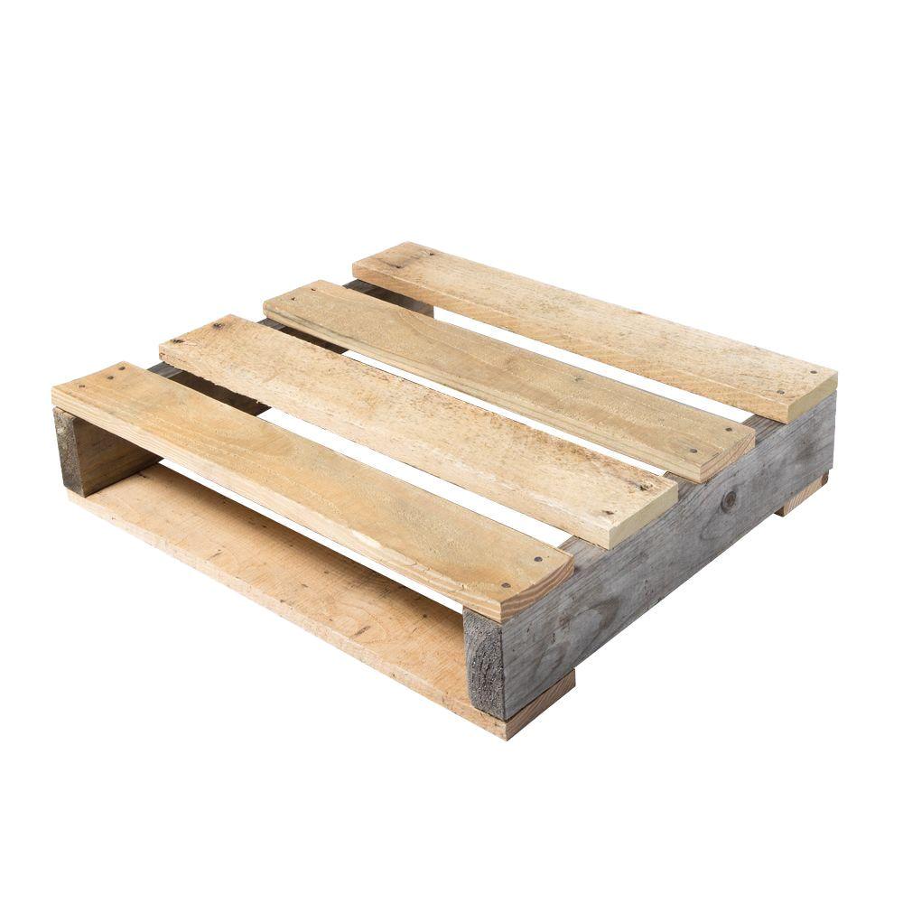 reclaimed wood quarter pallet